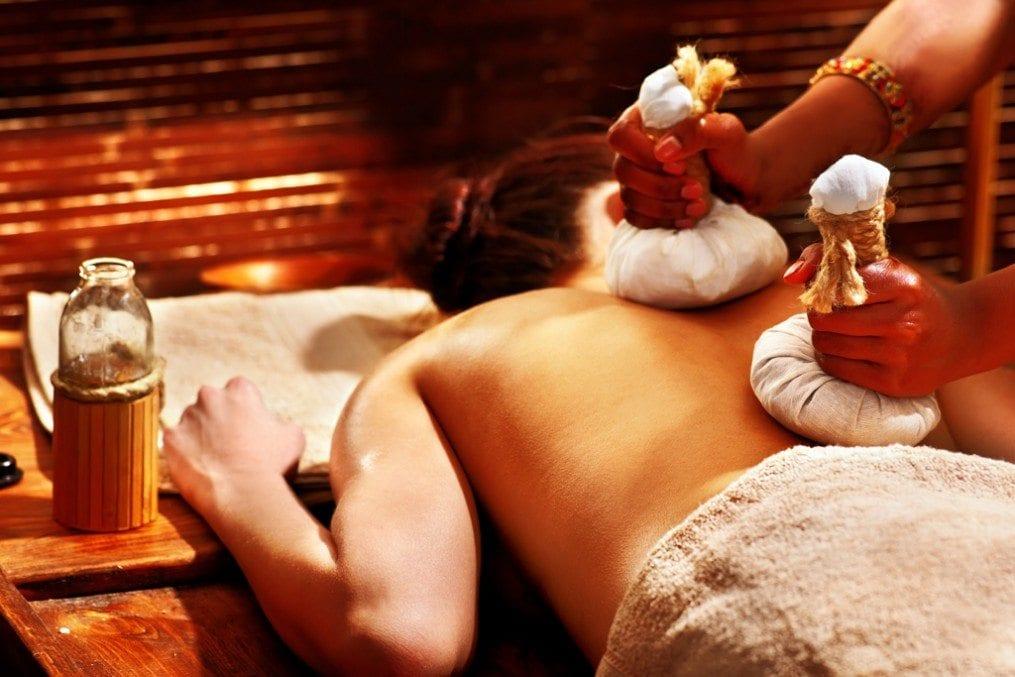 Woman getting Ayurveda massage