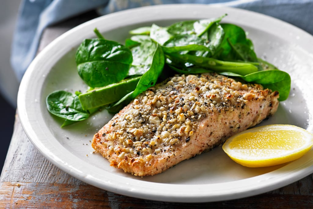 Hazelnut-crusted Salmon Recipe | Supper Recipes | Healthy