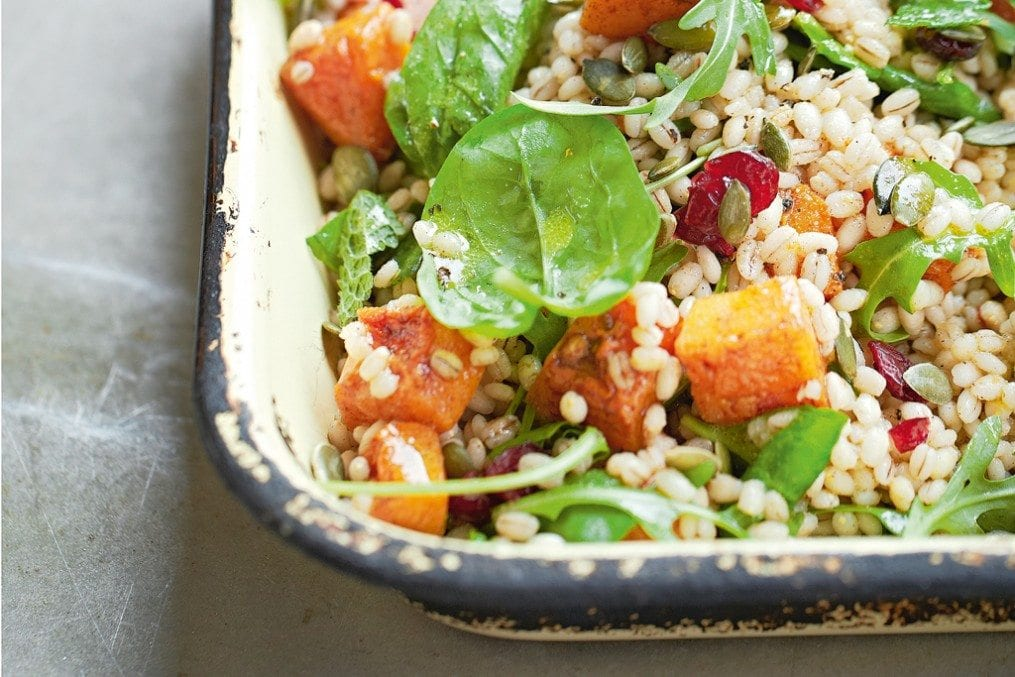 Roast squash with barley