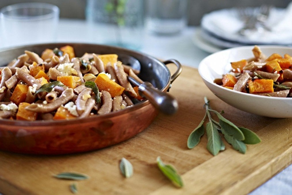 Pasta with roast butternut squash