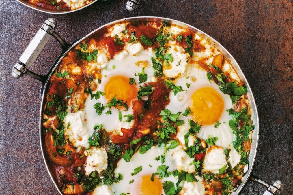 Spiced Baked Eggs with Feta Recipe