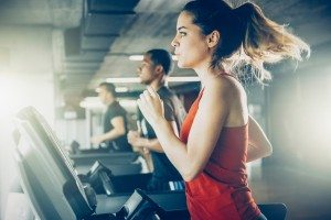 Healthy does HIIT: indoor workout