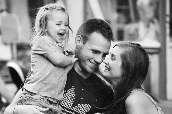 David Frenkiel and Luise Vindahl Andersen with daughter