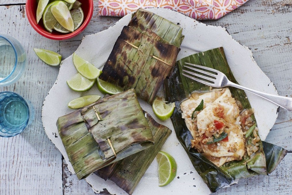 Banana Leaf Grilled Fish Recipe Indian Recipes Healthy