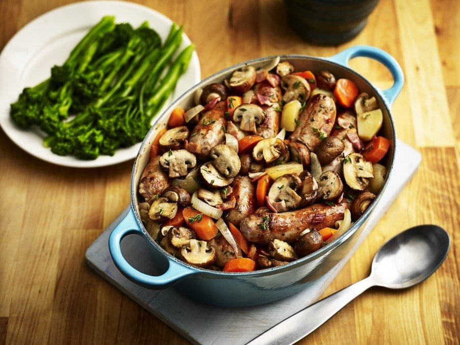 Mushroom & Sausage Casserole