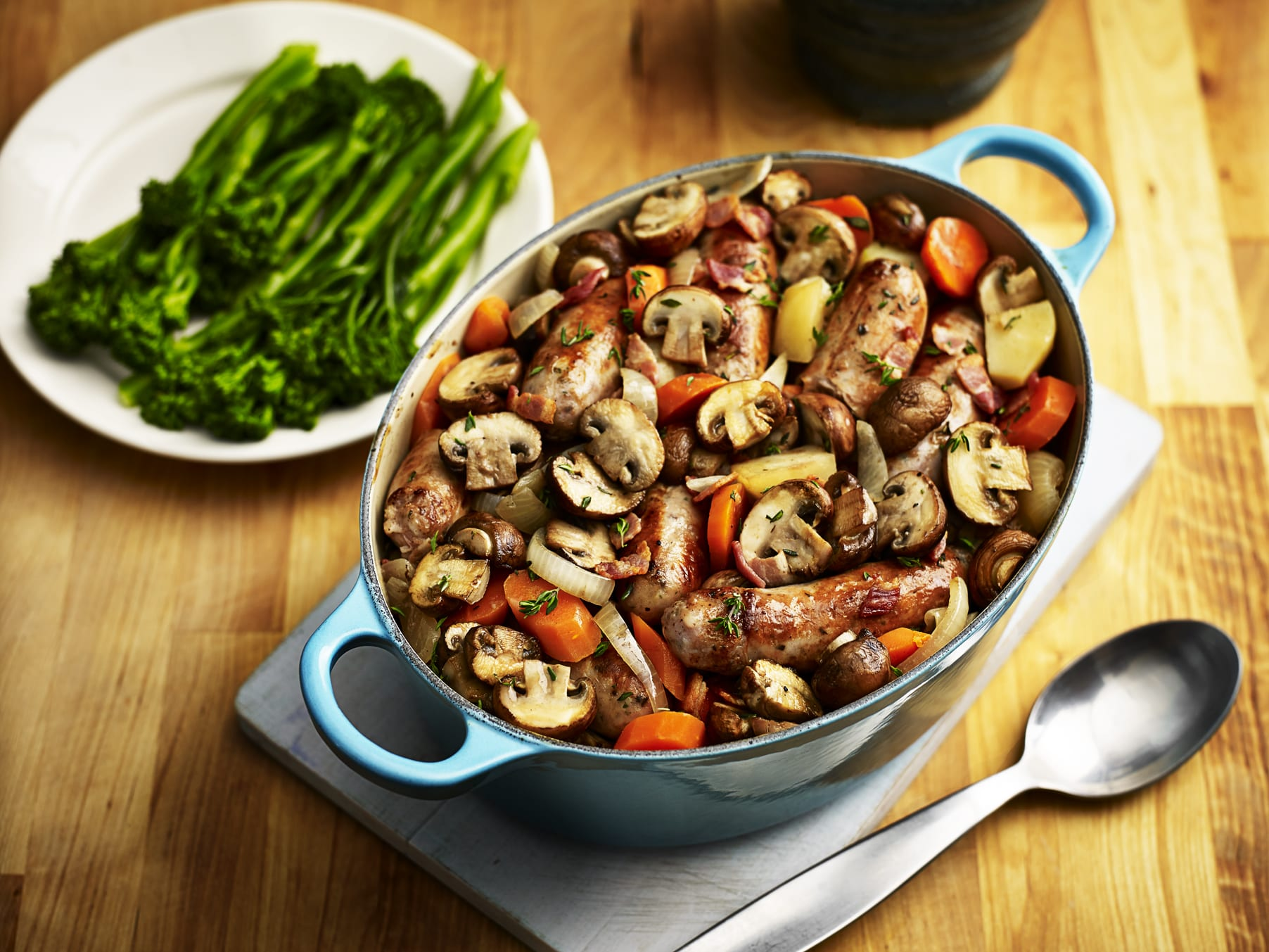 VegMasterclass: Mushroom and sausage casserole - Healthy : Healthy