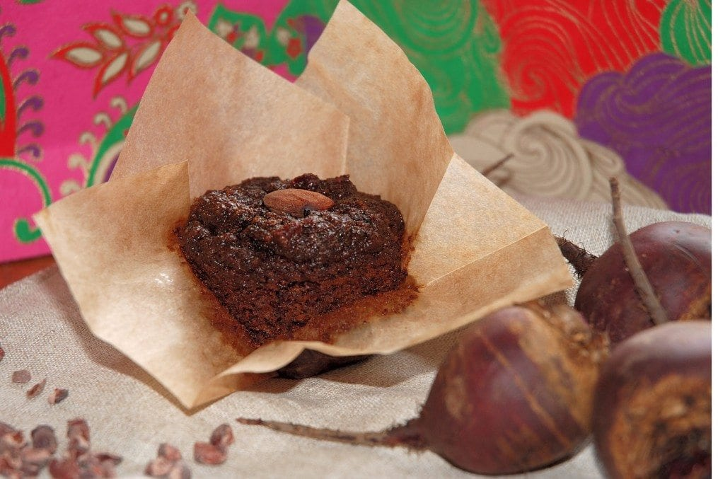 Gluten Free Muffins with Beetroot & Cacao