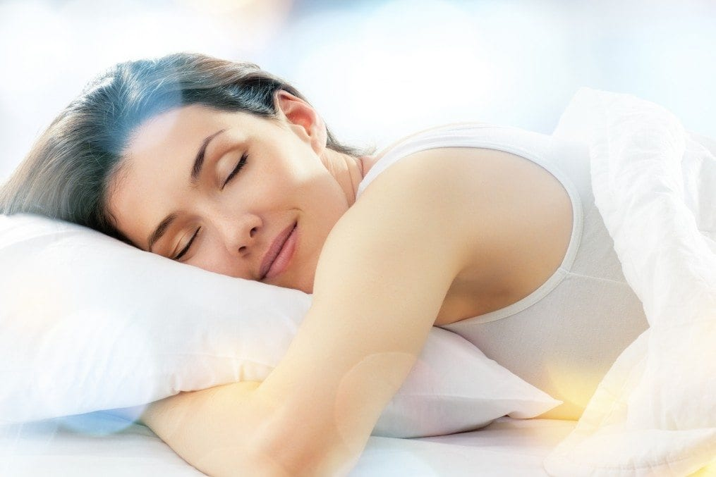 woman having good sleep