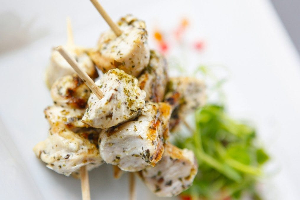 Cod Skewers with Sweet Chilli and Ginger