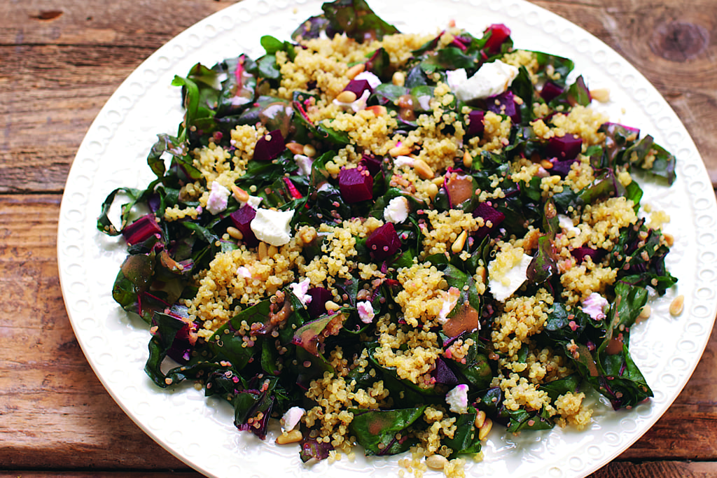 Warm quinoa with beets and swiss chard recipe healthy this dish contains swiss chard which has huge amounts of lutein and zeaxanthin to protect your retinas from light rays that can damage your eyes forumfinder Gallery