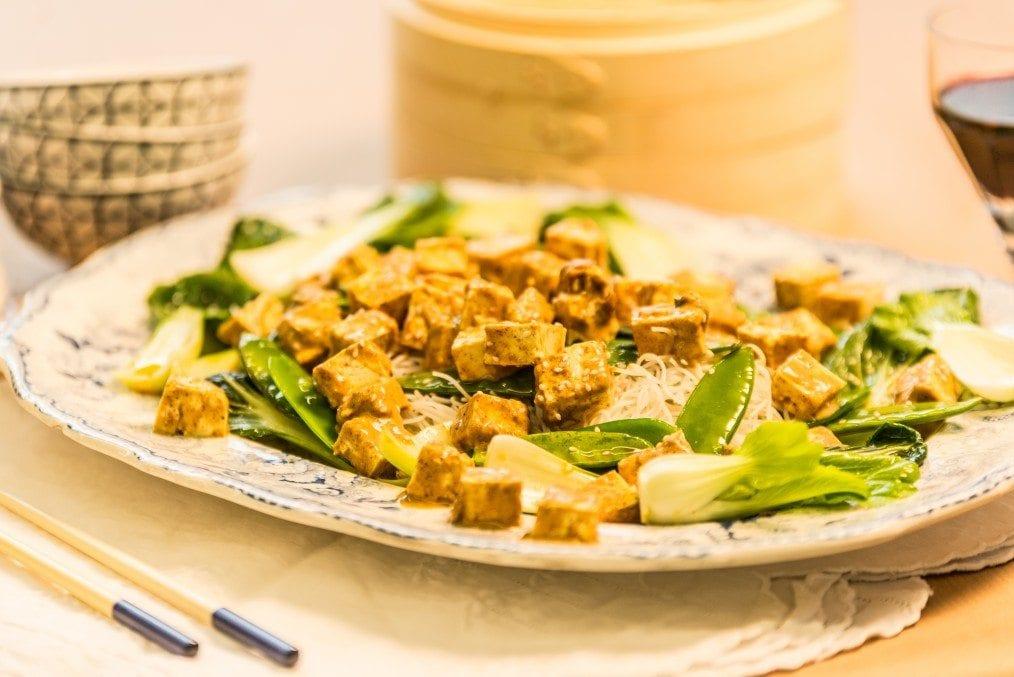 Oriental Tofu Rice Noodles
