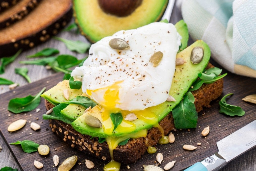 Avocado and egg on bread