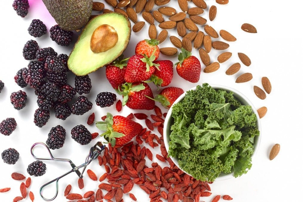 nuts and fruits for younger looking skin