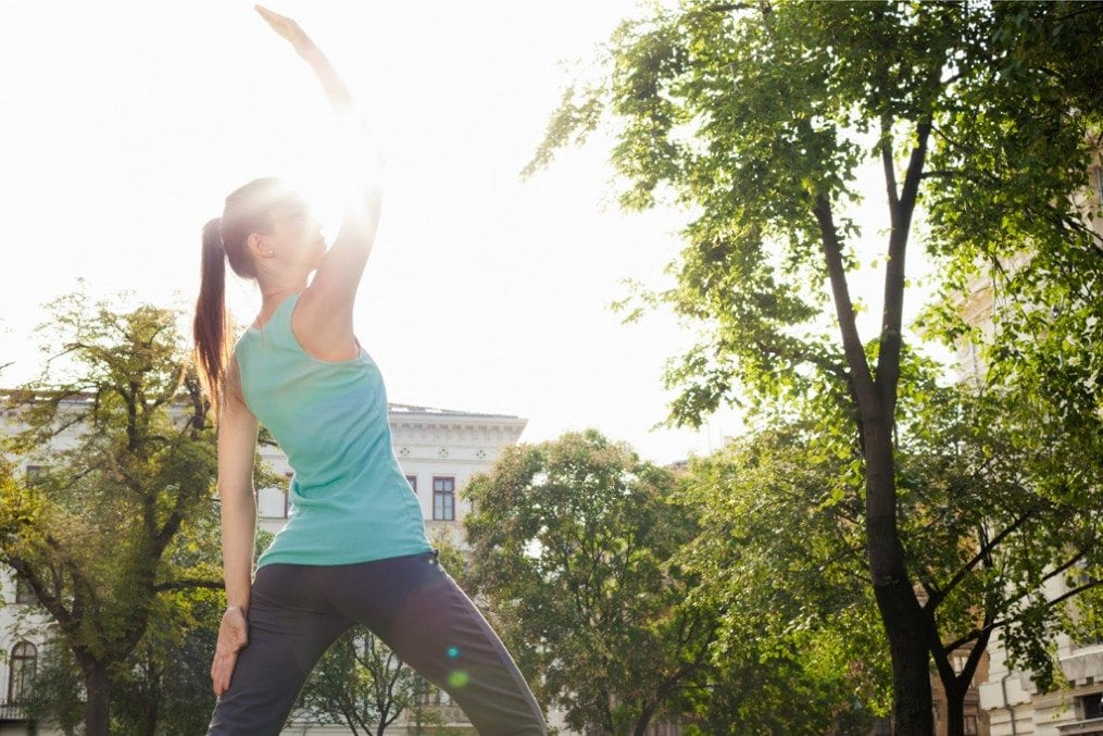 how to get started in outdoor yoga