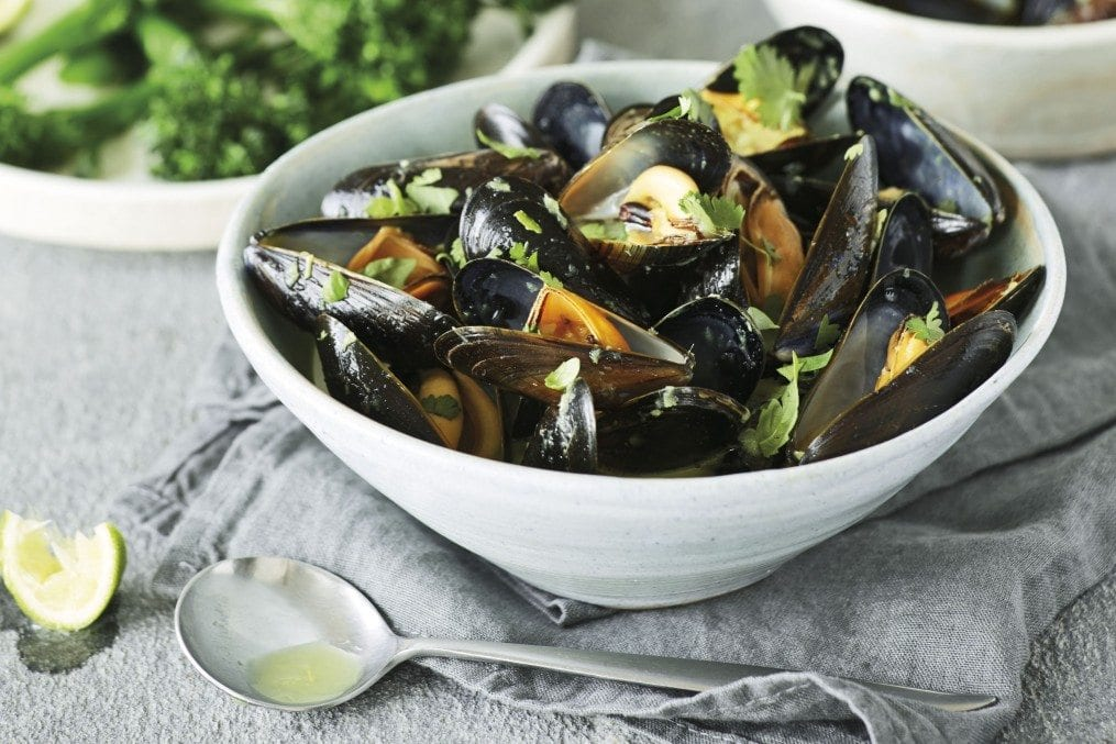 Mussels in a Lime and Coconut Broth