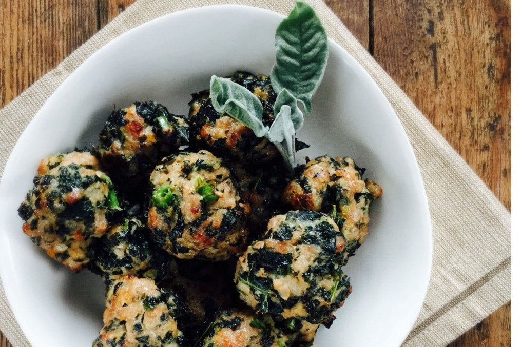 Christmas Kale and Sausage Meat Stuffing balls