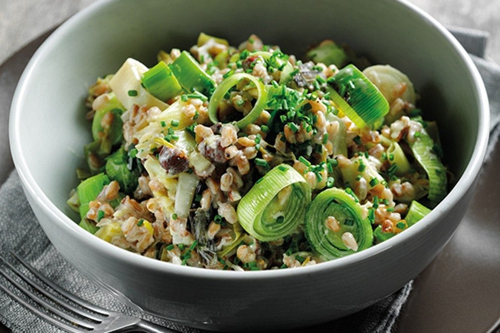 Leek and spelt risotto