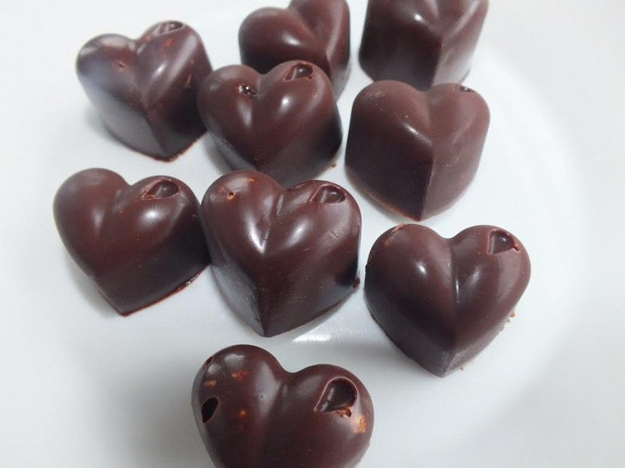 Chilli chocolate hearts