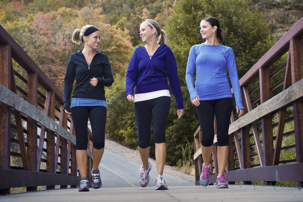 three woen walking for exercise