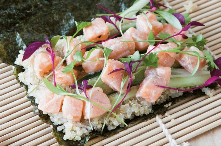 Quinoa Salmon Hand Roll