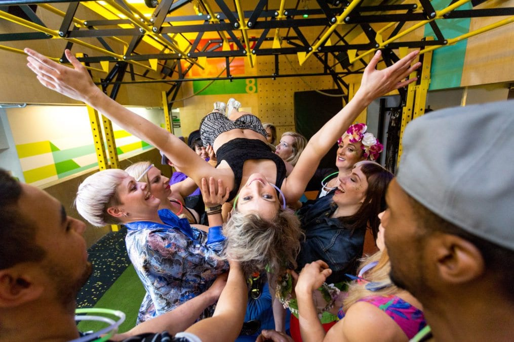 Gymbox and Stubhub create a festival fitness class at Gym Box Farringdon, London, Britain on 5 Jul 2016.
