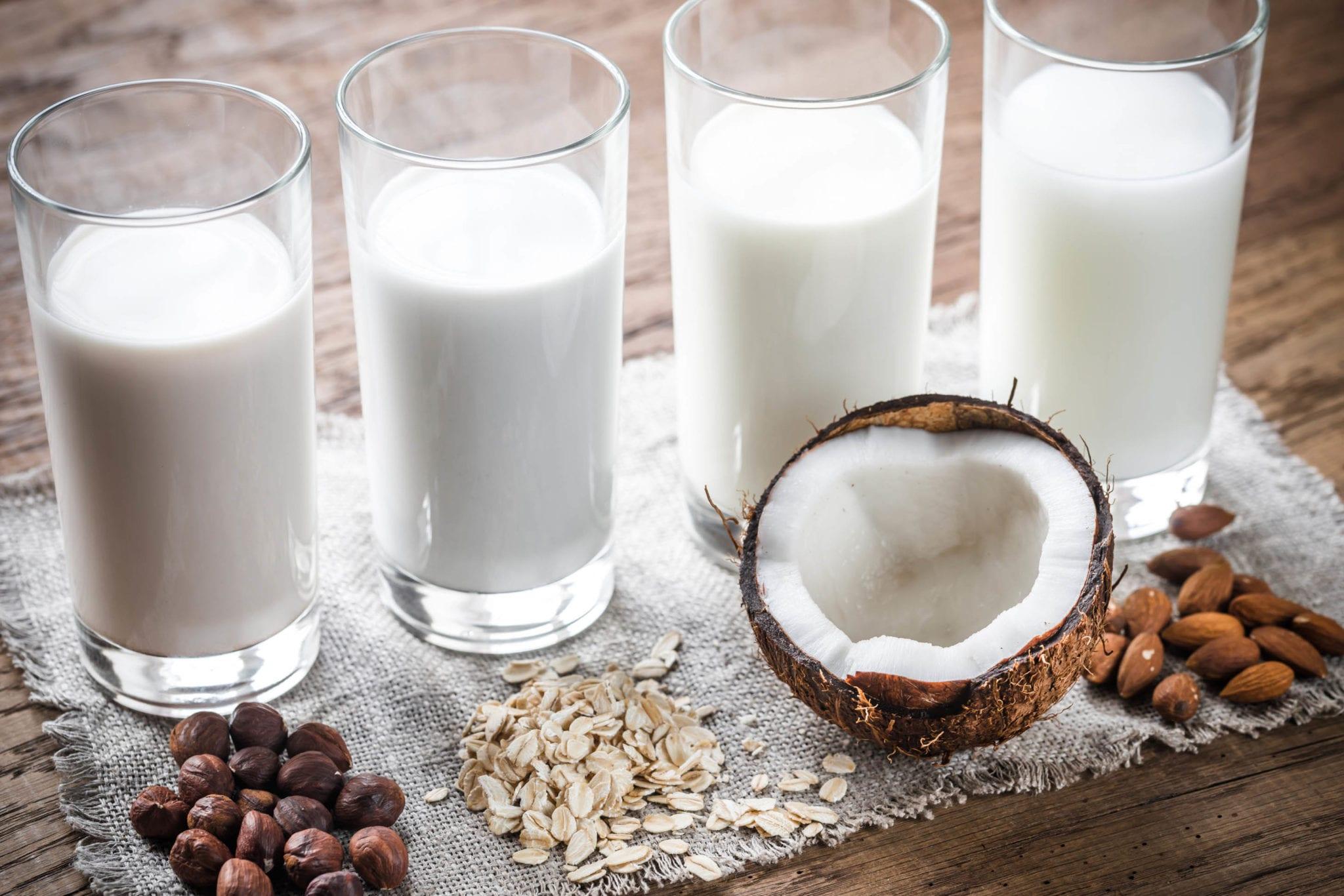 plant milk oat almond coconut
