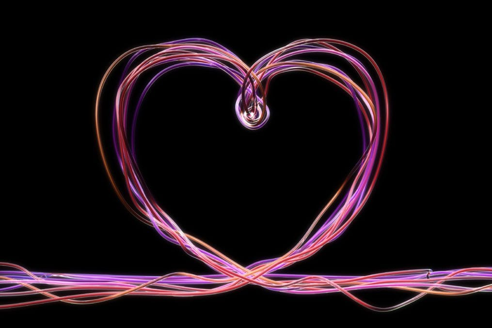 tubes forming heart shape