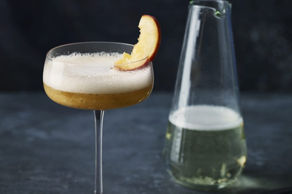 Healthy Bellini Cocktail