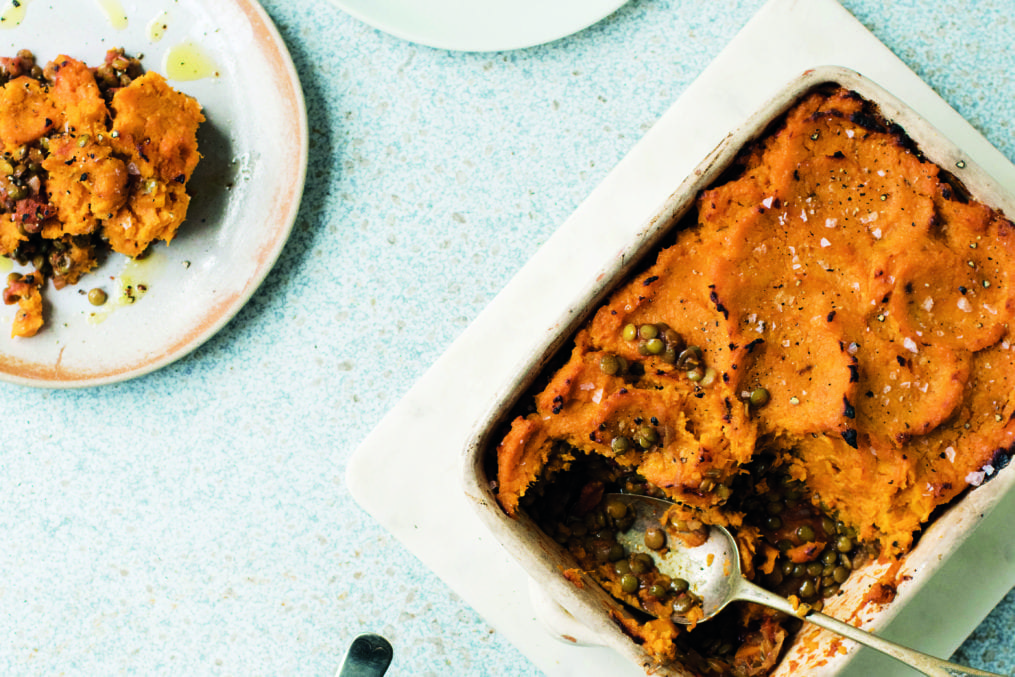 Vegetarian Cottage Pie with Sweet Potato