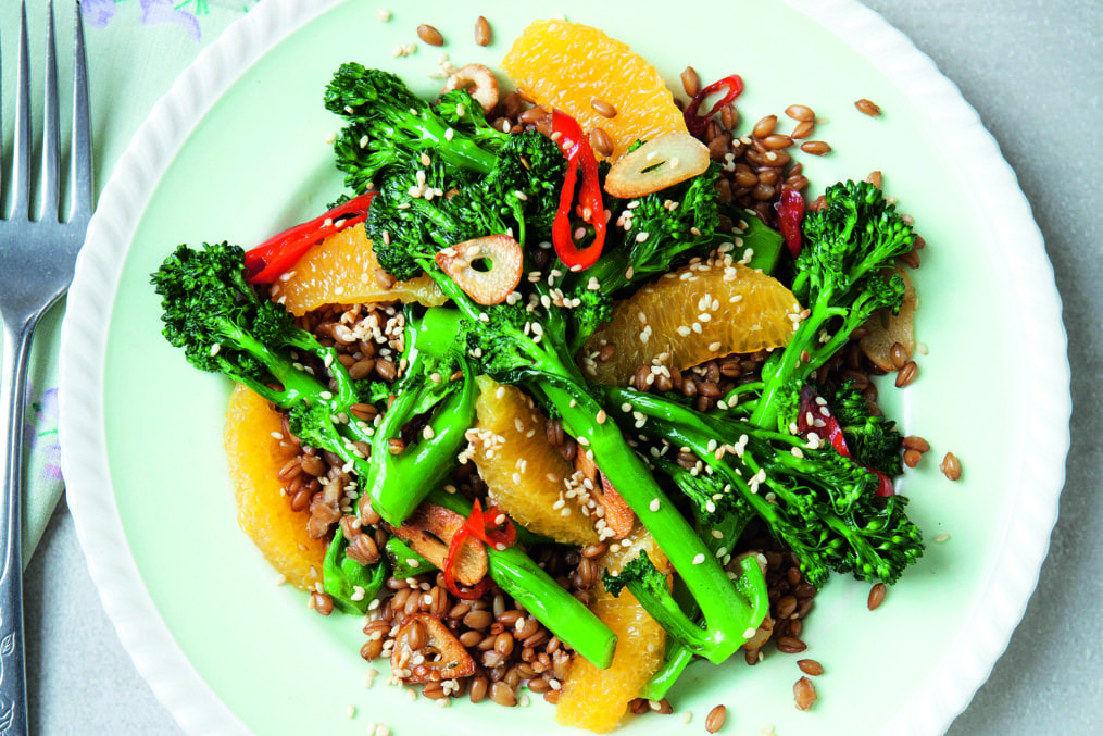 Davina's Broccoli, Spelt and Orange Salad