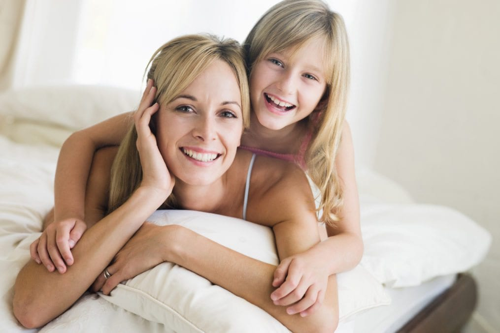 Happy mum with daughter