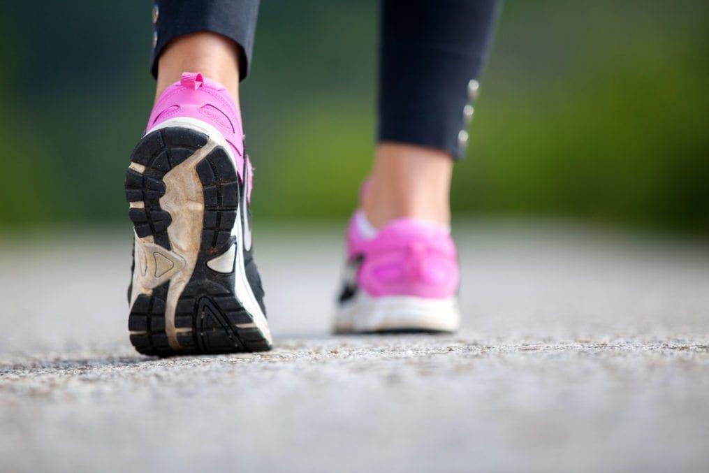 marathon runner feet