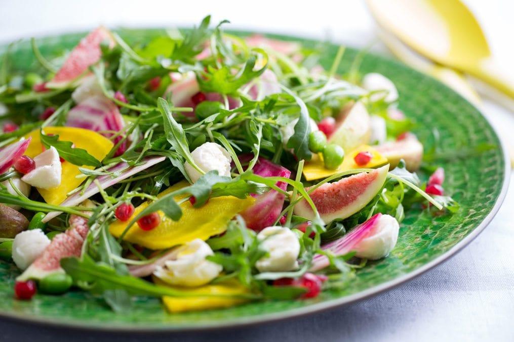fig mozzarella rocket salad recipe