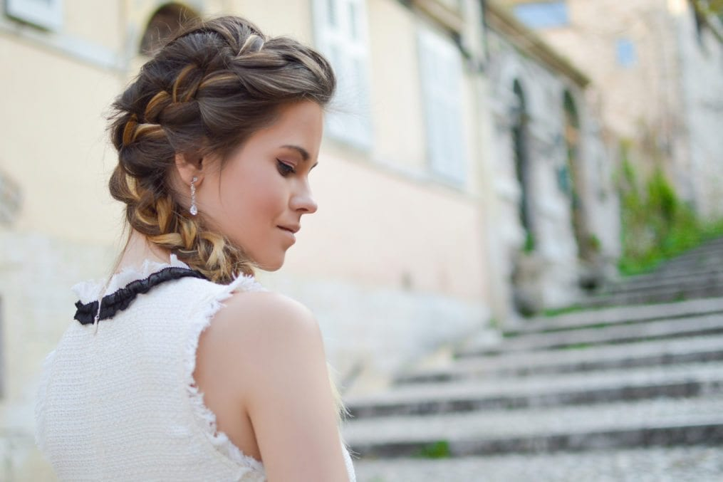 easy summer braid up-do hairstyles