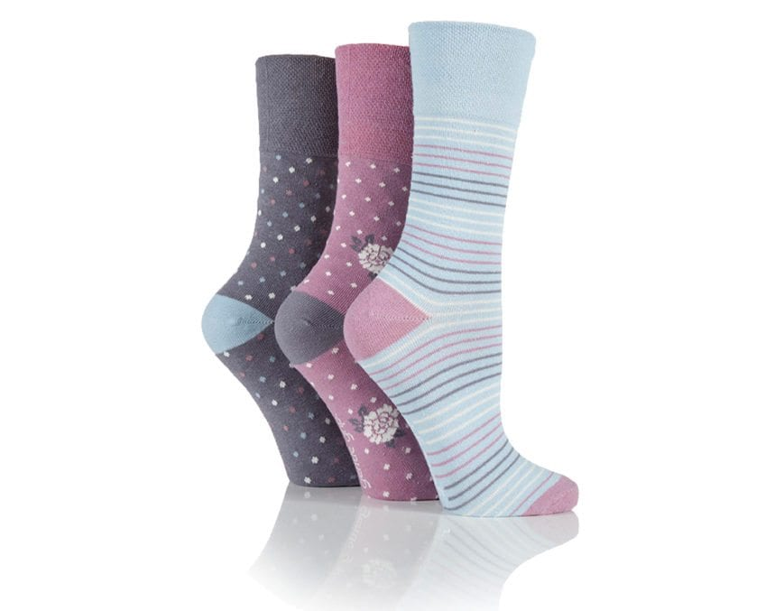 Gentle grip socks fluffy warm