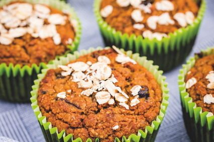 Prune and Oatmeal Muffins