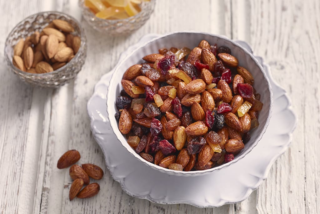 Seasonal snacking: festive almonds
