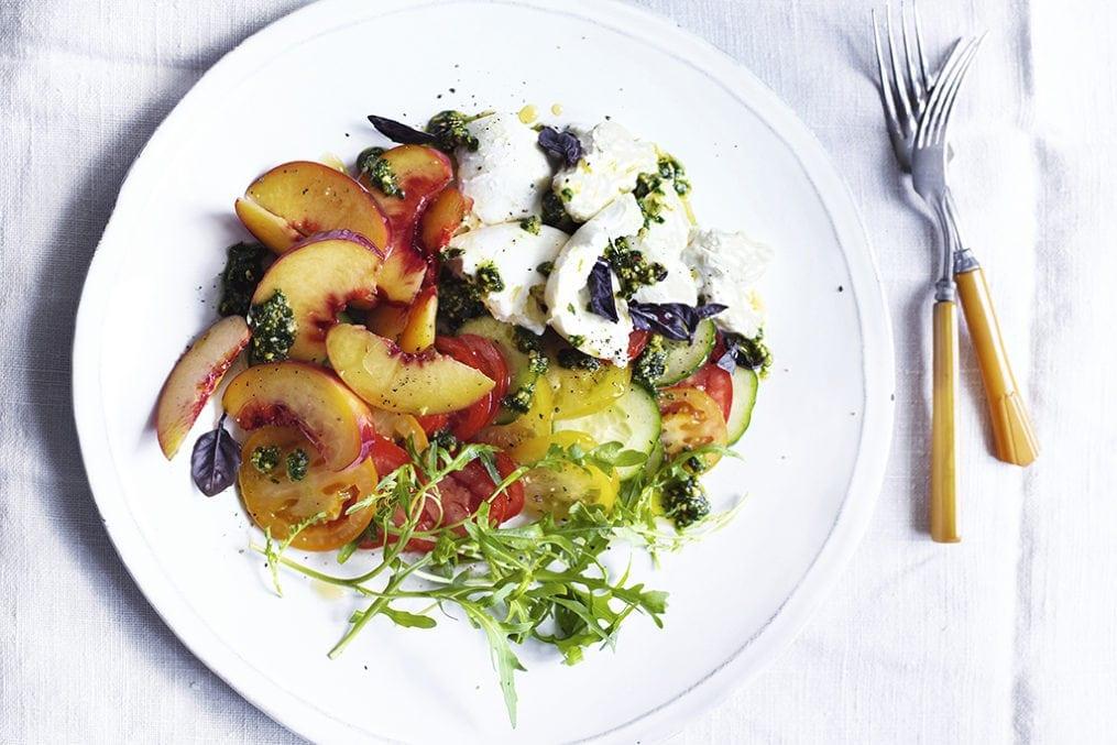 Peach Mozzerella Salad