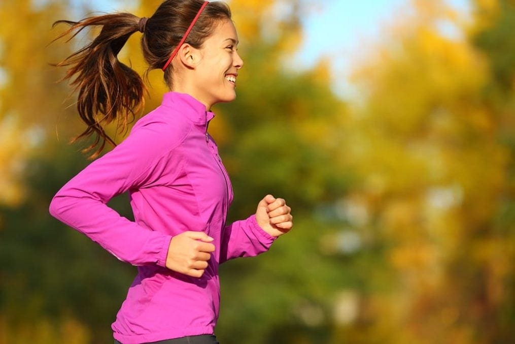 Woman Autumn running