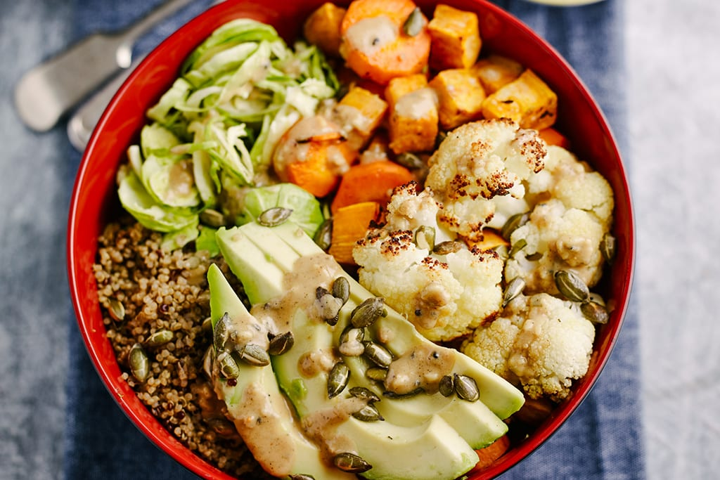 Roast Winter Veg & Quinoa Veggie Buddha Bowl