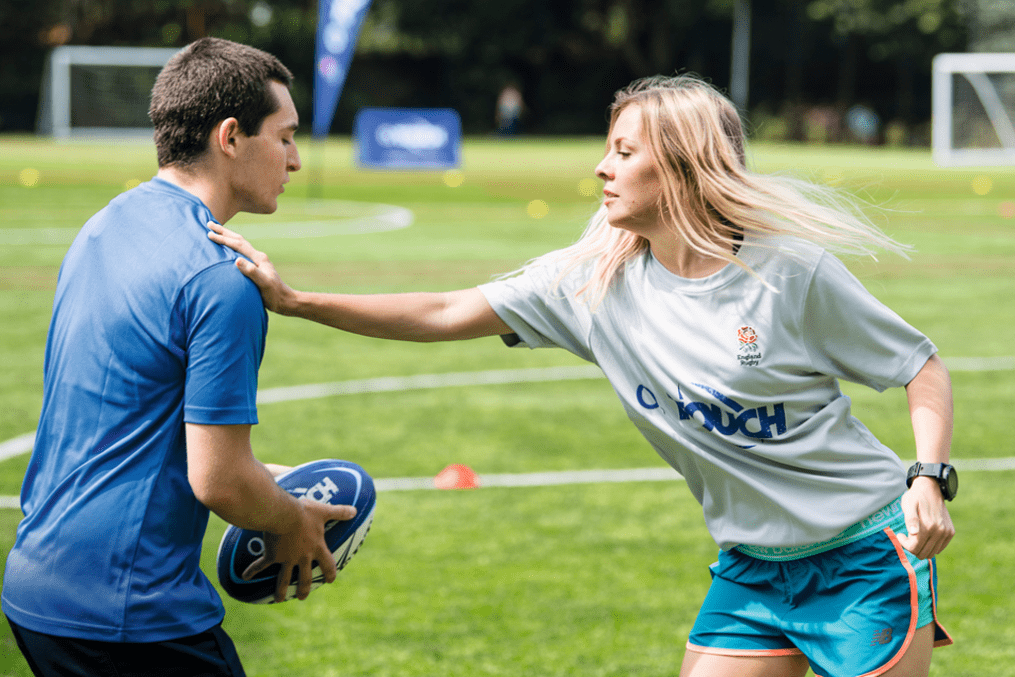 Class crashers: touch rugby