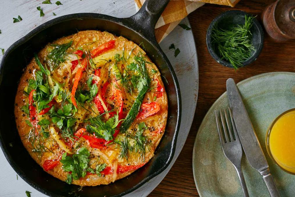 Vegan breakfast 'omelette'
