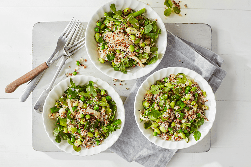 Quinoa Salad with Green Vegetables Recipe