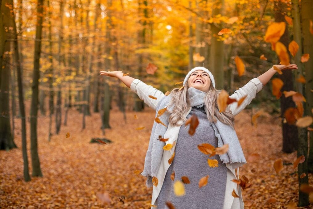 Happy, energetic woman
